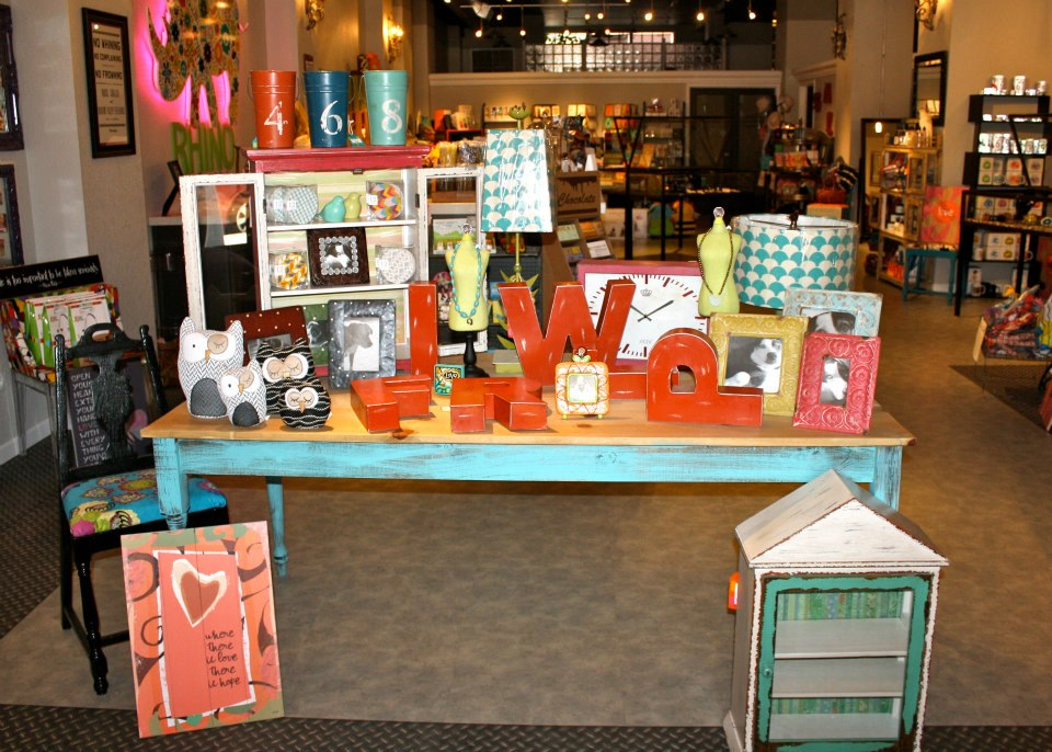 Floral Rhino Casper Wyoming boutique - gift table
