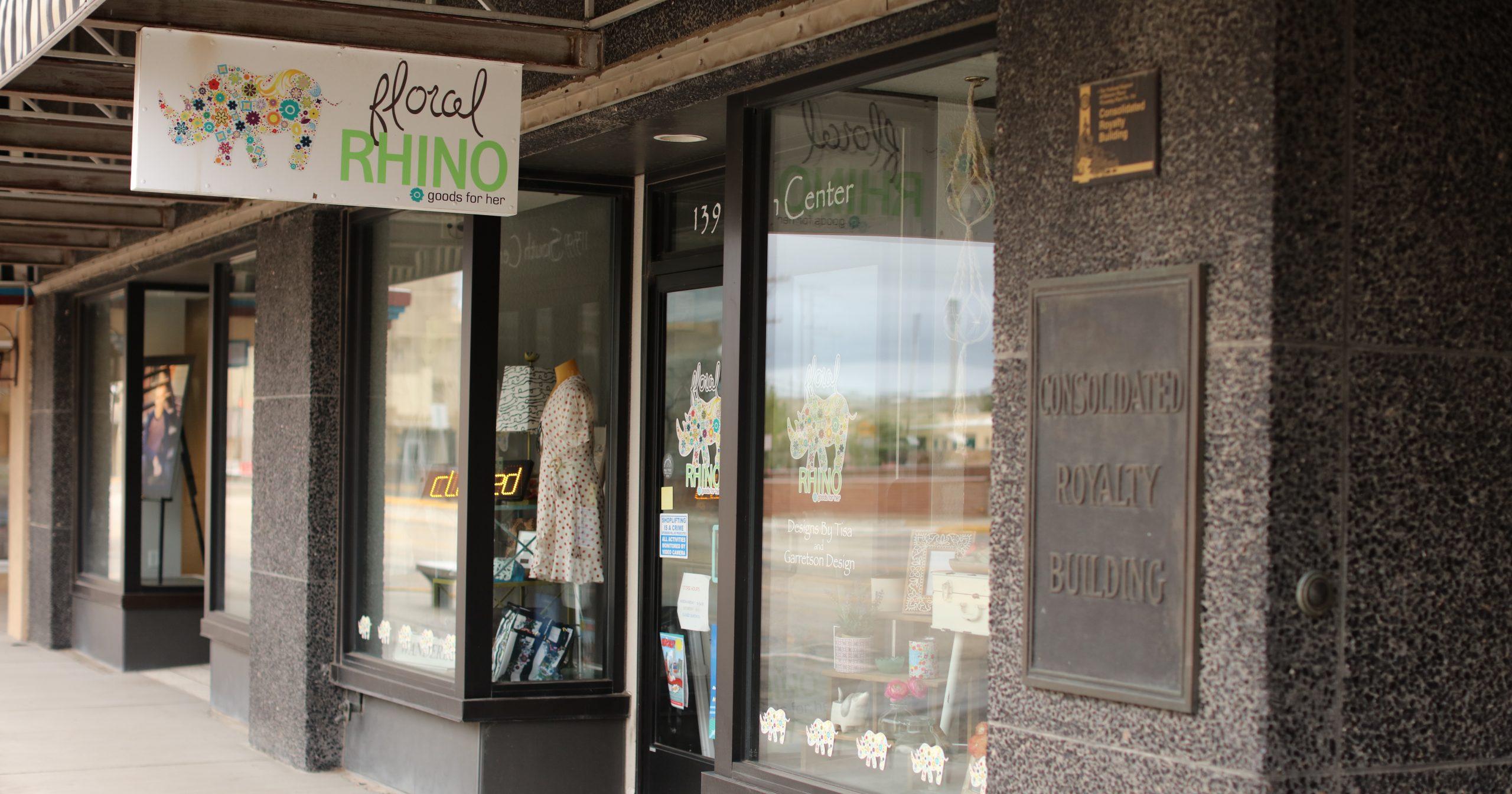 Floral Rhino Casper Wyoming boutique - exterior
